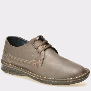 Pantofi OTTER maro, M4288, din piele naturala