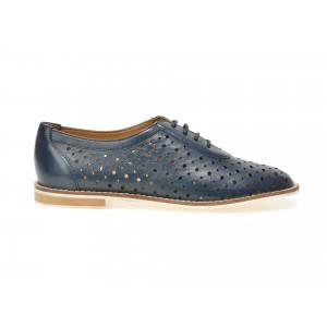 Pantofi OTTER bleumarin, 14001, din piele naturala