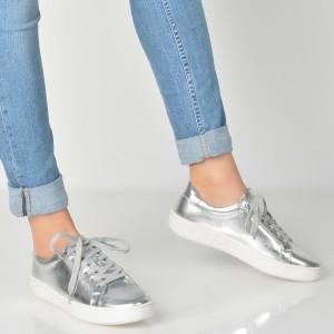 Pantofi Aldo Argintii, Ybung, Din Piele Ecologica