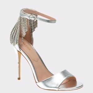 Sandale ALDO argintii, Batavia, din piele ecologica