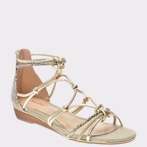 Sandale ALDO aurii, Muriele, din material piele ecologica