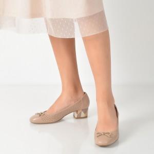 Pantofi Epica Nude, 8181423, Din Piele Naturala