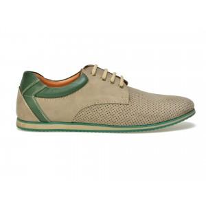 Pantofi OTTER dark sand, 127, din nabuc