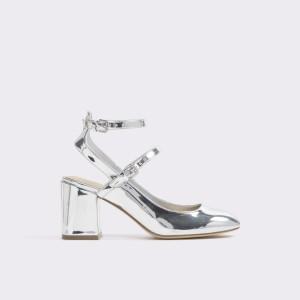 Sandale ALDO argintii, Pergine, din piele ecologica