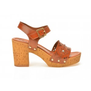 Sandale EPICA maro, 4106Tb, din piele naturala