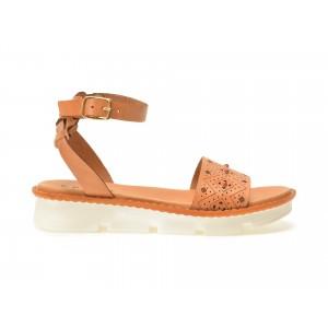 Sandale EPICA maro, 4100Tb, din piele naturala