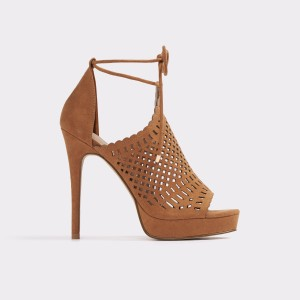 Sandale ALDO maro, Rilley, din material textil