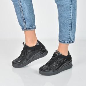 Pantofi STONEFLY negri, Cream2, din piele intoarsa