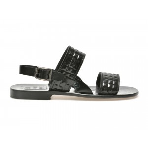 Sandale BALPHOMME negre, Cesar, din piele naturala