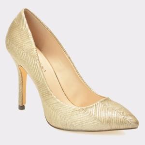 Pantofi MENBUR aurii, 7262, din material textil
