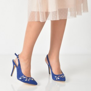 Pantofi Epica Bleumarin, R9413, Din Piele Ecologica
