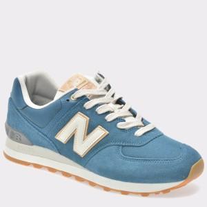 Pantofi sport NEW BALANCE albastri, Ml574, din piele intoarsa