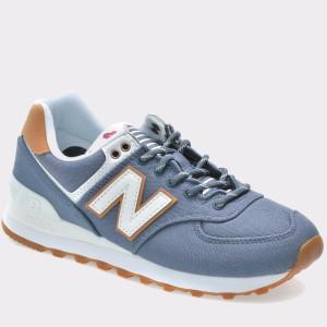 Pantofi sport NEW BALANCE albastri, Wl574, din canvas