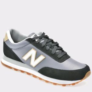 Pantofi sport NEW BALANCE negri, Ml501, din material textil