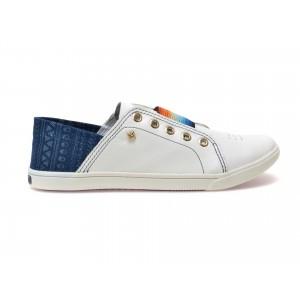 Pantofi albi, 147705, din piele naturala