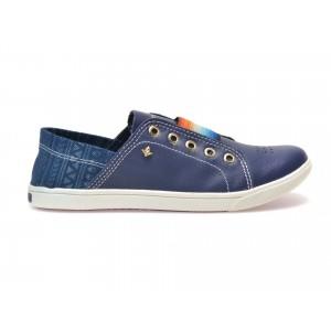 Pantofi bleumarin, 147705, din piele naturala