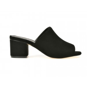 Papuci IMAGE negri, 9303, din piele intoarsa