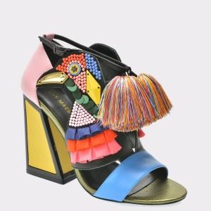 Sandale EPICA multicolore, Aya, din piele naturala
