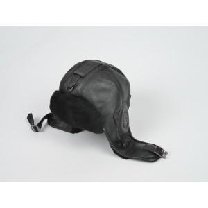 Caciula KLOP neagra, 041K, din piele naturala