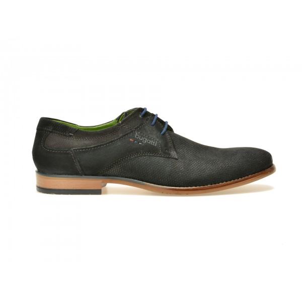 Pantofi BUGATTI negri, 24901, din piele intoarsa de la Bugatti tezyo.ro – by OTTER Distribution