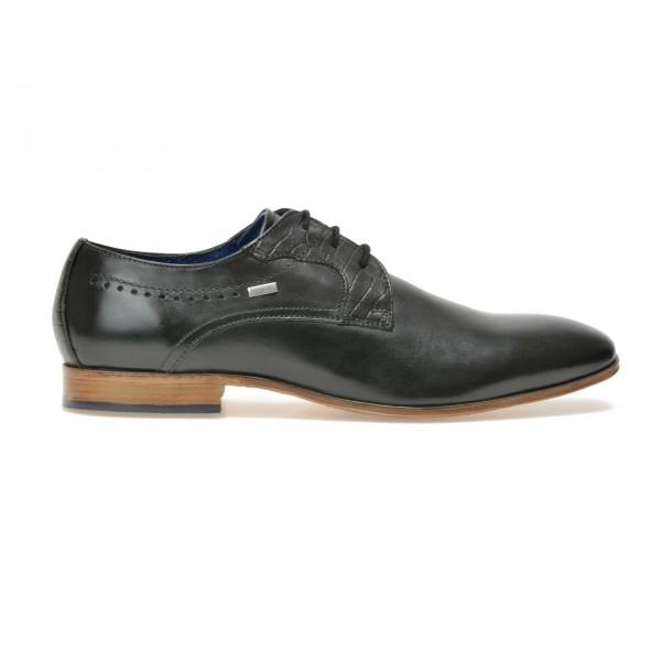 Pantofi BUGATTI negri, 25202, din piele naturala de la Bugatti tezyo.ro – by OTTER Distribution