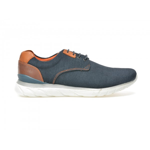 Pantofi BUGATTI bleumarin, K4209, din material textil de la Bugatti tezyo.ro – by OTTER Distribution