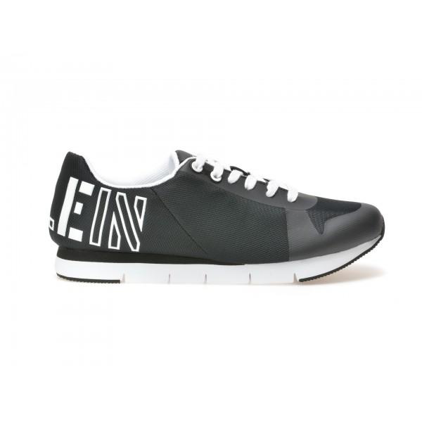 Pantofi Calvin Klein Alb-negru  S1658  Din Piele E