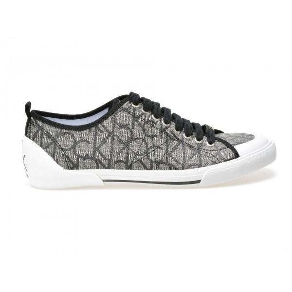 Pantofi Calvin Klein Gri  O11081  Din Piele Ecolog