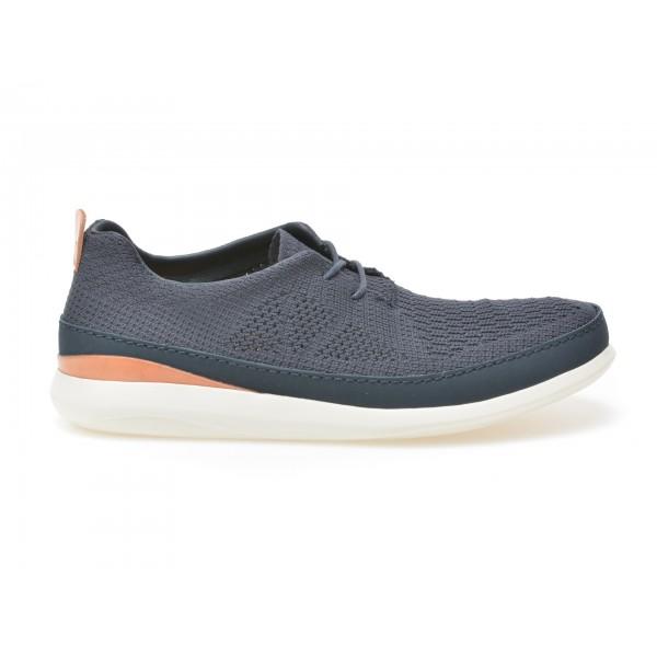 Pantofi Clarks Bleumarin  6123508  Din Material Te