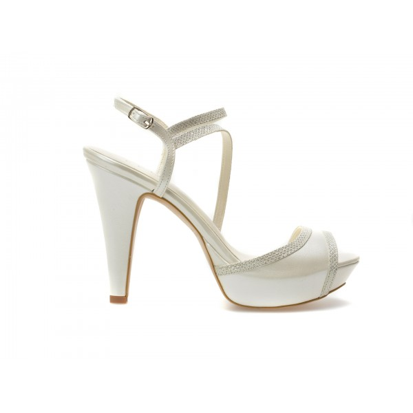 Sandale EPICA albe, pentru mireasa, 8641, din piele ecologica de la Epica tezyo.ro – by OTTER Distribution