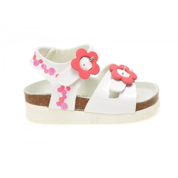 Sandale Pentru Copii La Compania Natural Albe  31893  Din Piele Ecologica