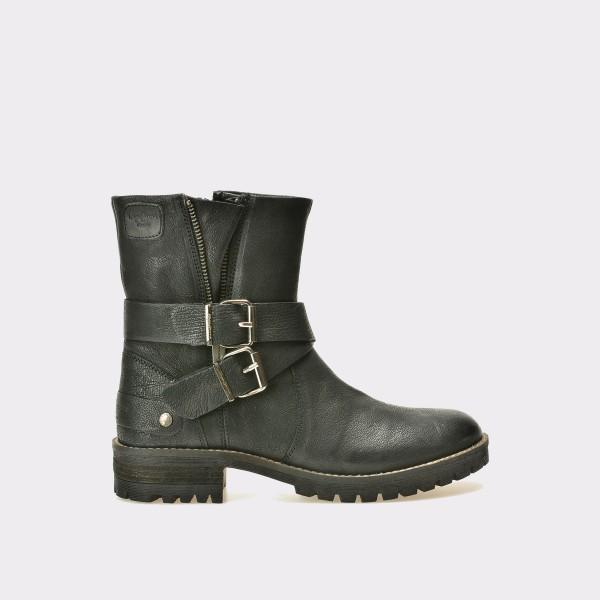 Ghete PEPE JEANS negre, Ls50302, din piele naturala de la Pepe Jeans tezyo.ro – by OTTER Distribution