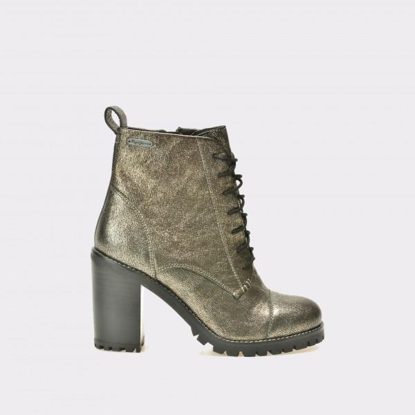 Ghete PEPE JEANS argintii, Ls50303, din piele naturala de la Pepe Jeans tezyo.ro – by OTTER Distribution