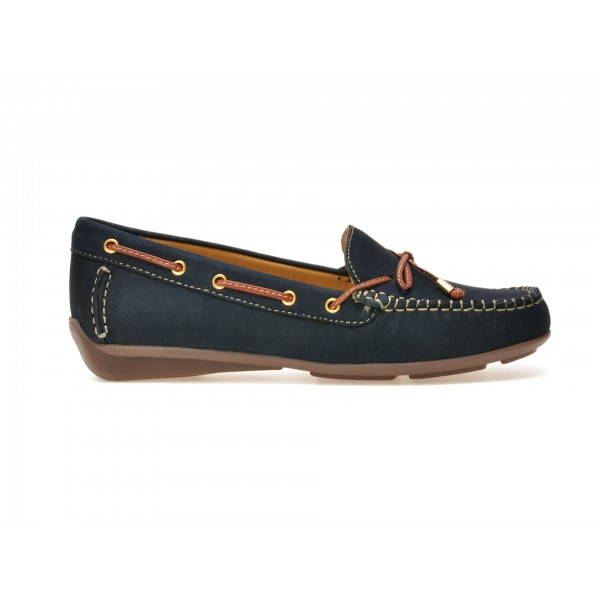 Pantofi mocasini OTTER bleumarin, 16001, din nabuc de la Otter tezyo.ro – by OTTER Distribution