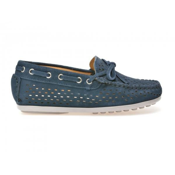 Pantofi Mocasini Otter Pentru Copii  Bleumarin  4503  Din Piele Intoarsa