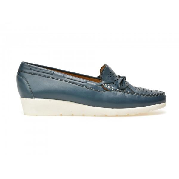 Pantofi mocasini OTTER albastri, 17001, din piele naturala de la Otter tezyo.ro – by OTTER Distribution