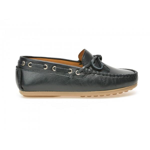 Pantofi Mocasini Pentru Copii Otter Bleumarin  3001  Din Piele Naturala