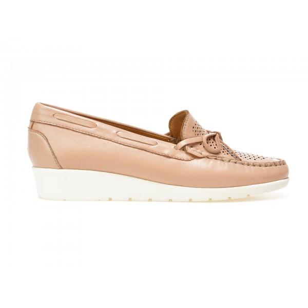 Pantofi mocasini OTTER roz, 17001, din piele naturala de la Otter tezyo.ro – by OTTER Distribution