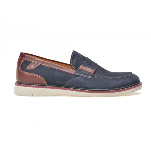 Pantofi OTTER bleumarin, 7417, din nabuc de la Otter tezyo.ro – by OTTER Distribution