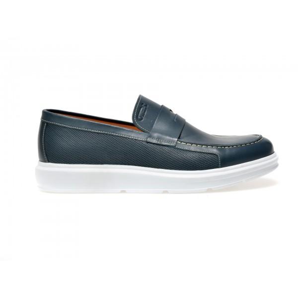 Pantofi OTTER bleumarin, 65303, din piele naturala