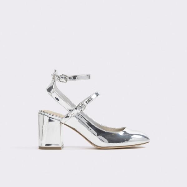 Sandale Aldo Argintii  Pergine  Din Piele Ecologic