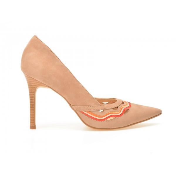 Pantofi EPICA nude, 4840102, din nabuc de la Epica tezyo.ro – by OTTER Distribution