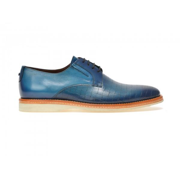 Pantofi MARIO FERRETTI albastri, 42205, din piele naturala de la Mario Ferretti tezyo.ro – by OTTER Distribution