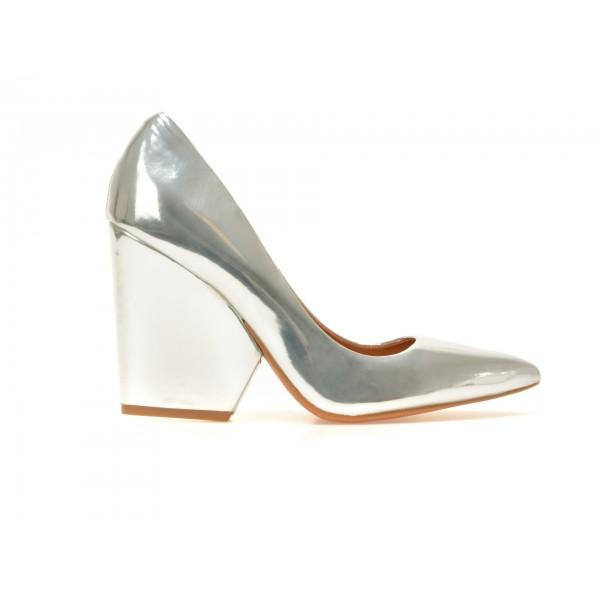 Pantofi EPICA argintii, Mi203, din piele ecologica de la Epica tezyo.ro – by OTTER Distribution