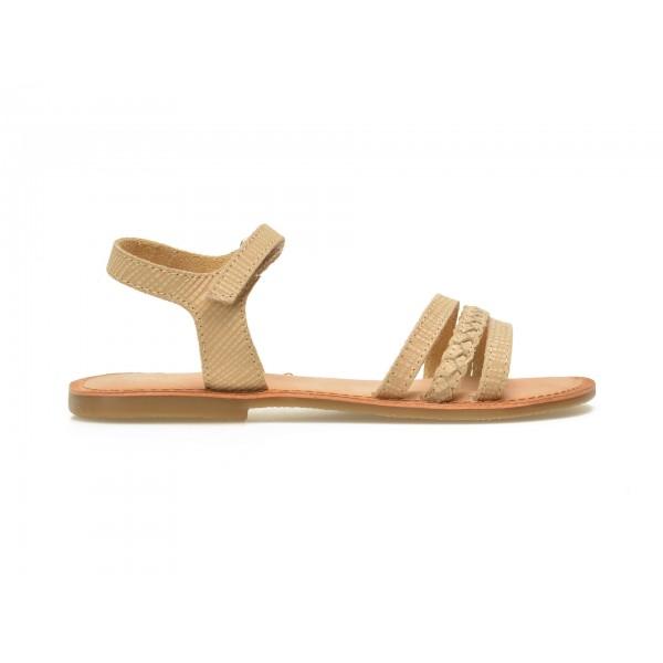 Sandale Pentru Copii Selections Bej  Ipsita  Din Piele Naturala