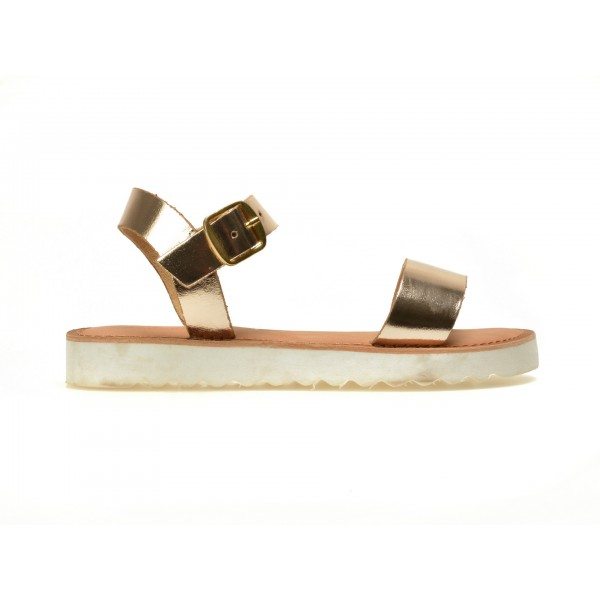 Sandale Pentru Copii Selections Aurii  Caress  Din Piele Naturala