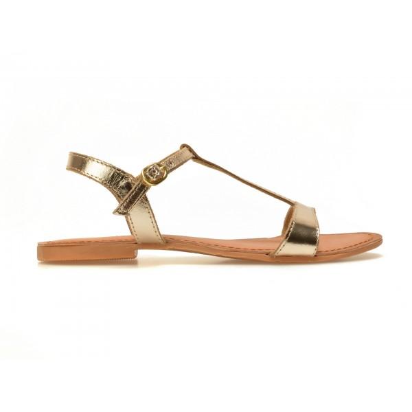 Sandale Pentru Copii Selections Aurii  Govindi  Din Piele Naturala