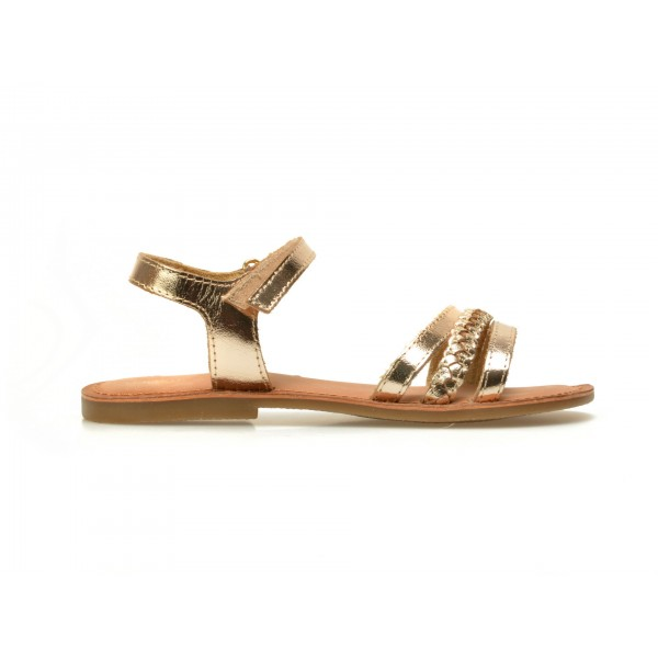 Sandale Pentru Copii Selections Aurii  Ipsita9  Din Piele Naturala