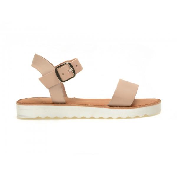 Sandale Pentru Copii Selections Nude  Caress  Din Piele Naturala