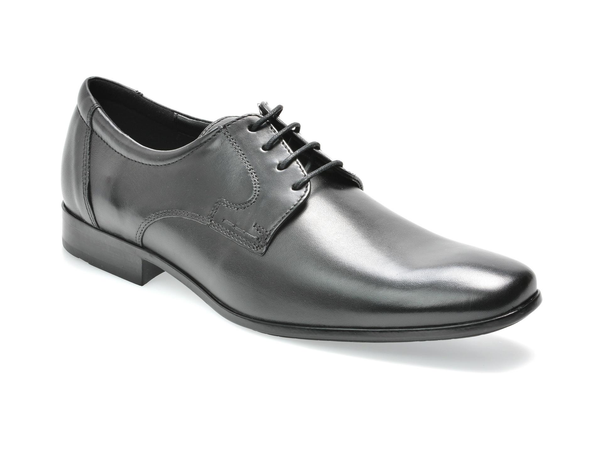 Pantofi SALAMANDER negri, 69101, din piele naturala